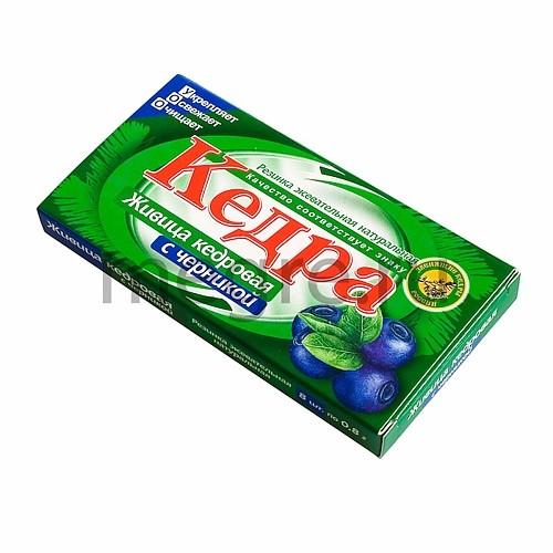 Kedra - sibiřská žvýkací cedrová pryskyřice s borůvkami