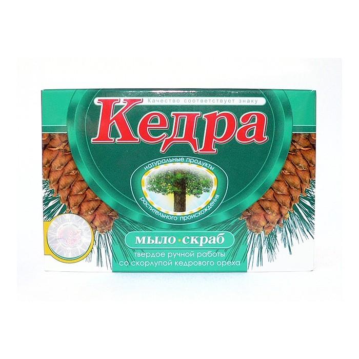 """Peelingové mýdlo """"Kedra"""" se skořápky a olejem z cedru sibiřského 80g"""